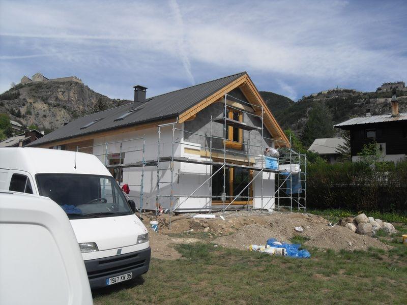 Isolation ext rieure sur une maison neuve font christiane nos r alisation - Isolation exterieur maison neuve ...